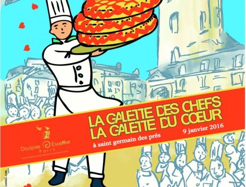Samedi 9 janvier pour la 10ème année, chefs de cuisine et pâtissiers se réuniront place Saint Germain des Prés à l'initiative de l'association des disciples d'Auguste Escoffier pour vendre leurs galettes au profit des POIC