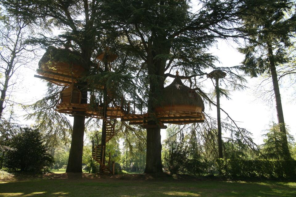 Domaine des Ormes, Dol de Bretagne, cabanes dans les arbres