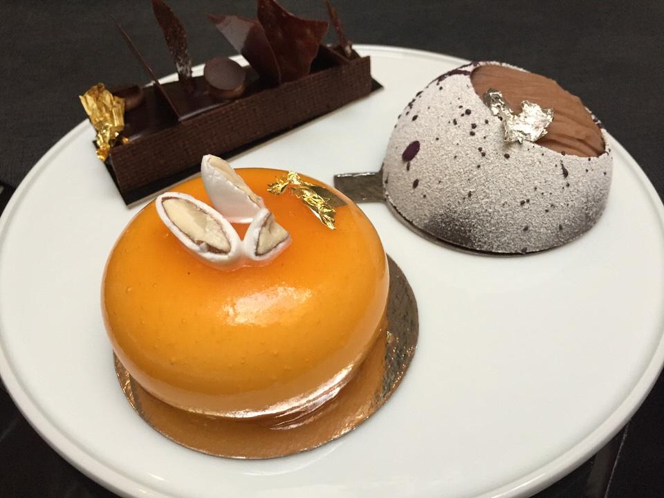 Le calisson, le mont blanc et la tarte au chocolat