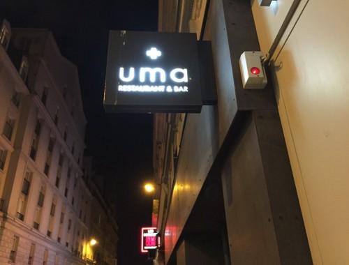 UMA est le premier restaurant parisien d'inspiration NIKKEI. Ce terme définit à la fois les japonais émigrés au Pérou, et la cuisine née de la rencontre entre la culture des deux peuples.