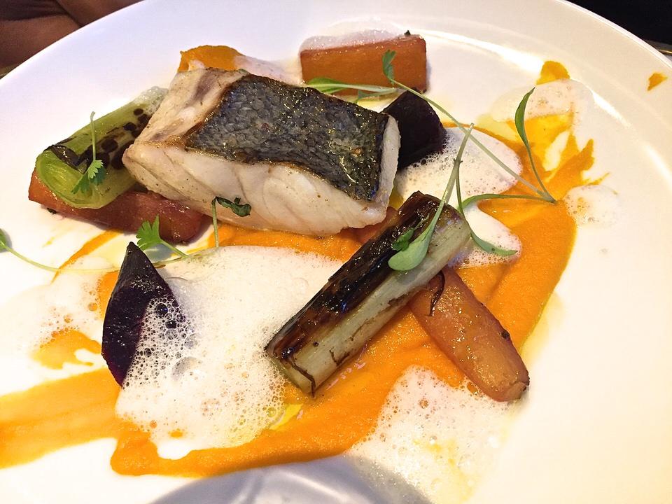 Le merlu purée carotte gingembre