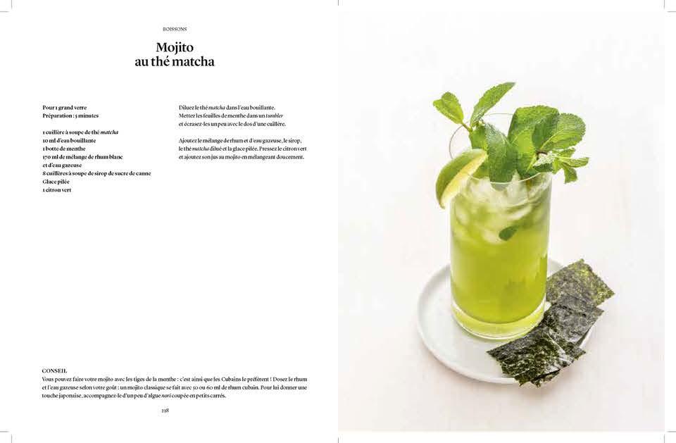 Mojito et thé vert