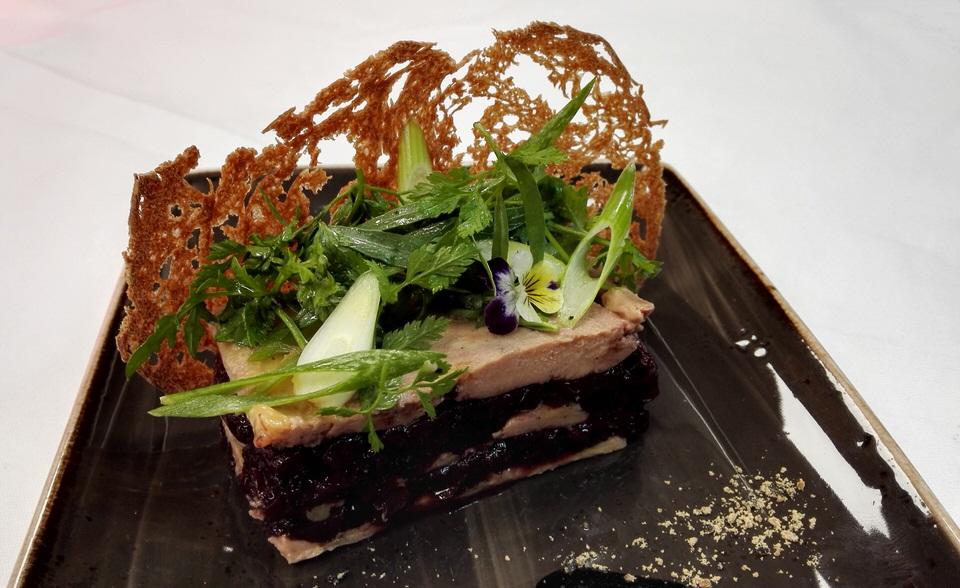 Foie gras et cerise