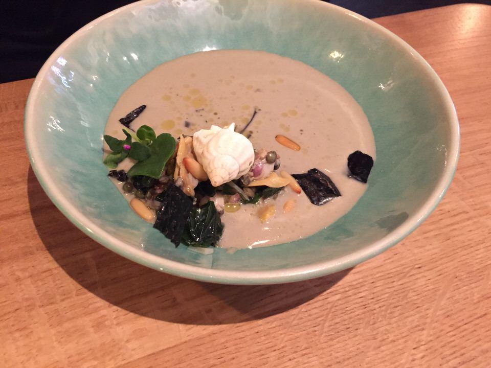 La soupe de lentilles vertes du Puy et Coquillages