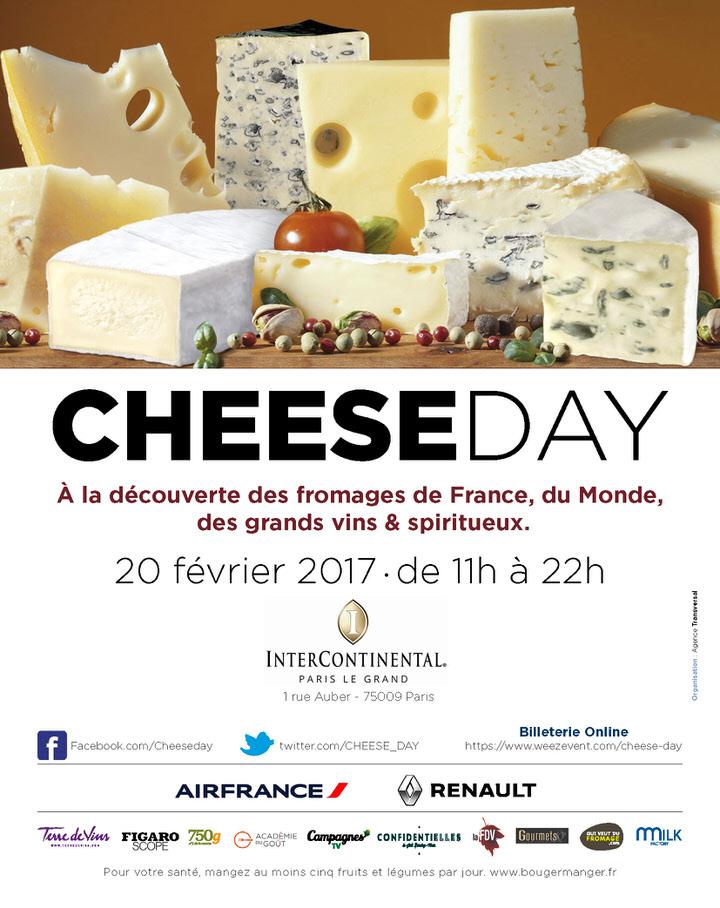 Le Cheese day revient pour la seconde année à l'initiative de Jean François Hess, le directeur de l'agence de communication Transversal. La journée du 20 février va donc célébrer l'un des piliers de notre patrimoine gastronomique.