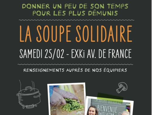La chaîne de snacking belge EXKI, qui ne cesse de se développer en France et en Europe, remet cette année encore le pot au feu, pour préparer la plus grande soupe solidaire possible.