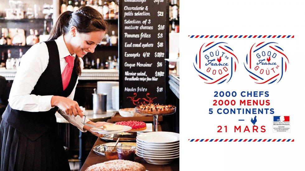 Le 21 mars à travers le monde, ce sont 2000 chefs répartis sur cinq continents qui célèbreront ensemble la gastronomie française.