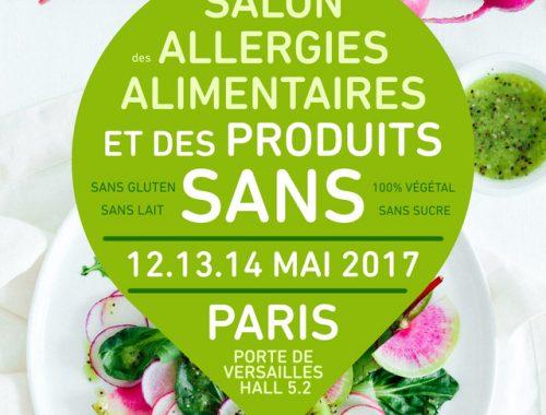 Les 12, 13 et 14 mai 2017 se tient au parc des expositions de Paris, Porte de Versailles, la deuxième édition du salon des allergies alimentaires et des produits « sans ».