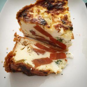 Excellente quiche carotte feta servie au caf Michalack !!! Jehellip