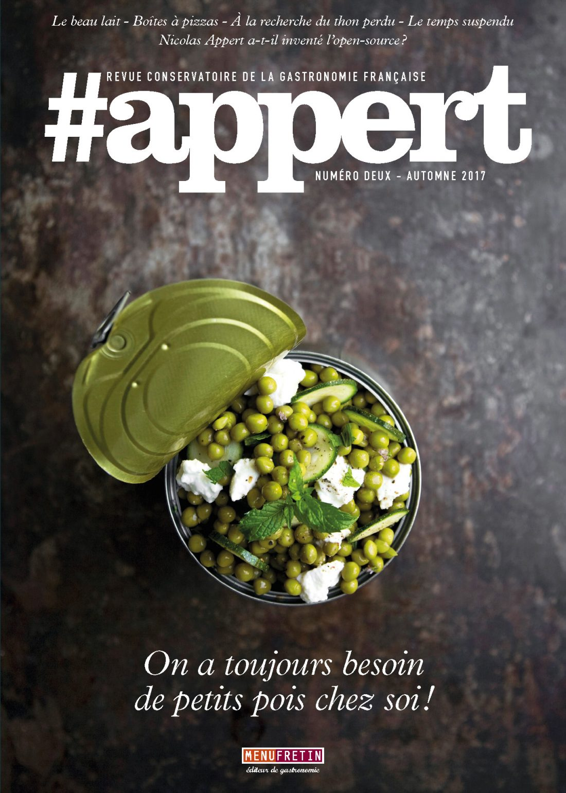Le deuxième numéro vient de sortir. Entre livre et magazine, #appert se définit comme une revue conservatoire de la gastronomie française...