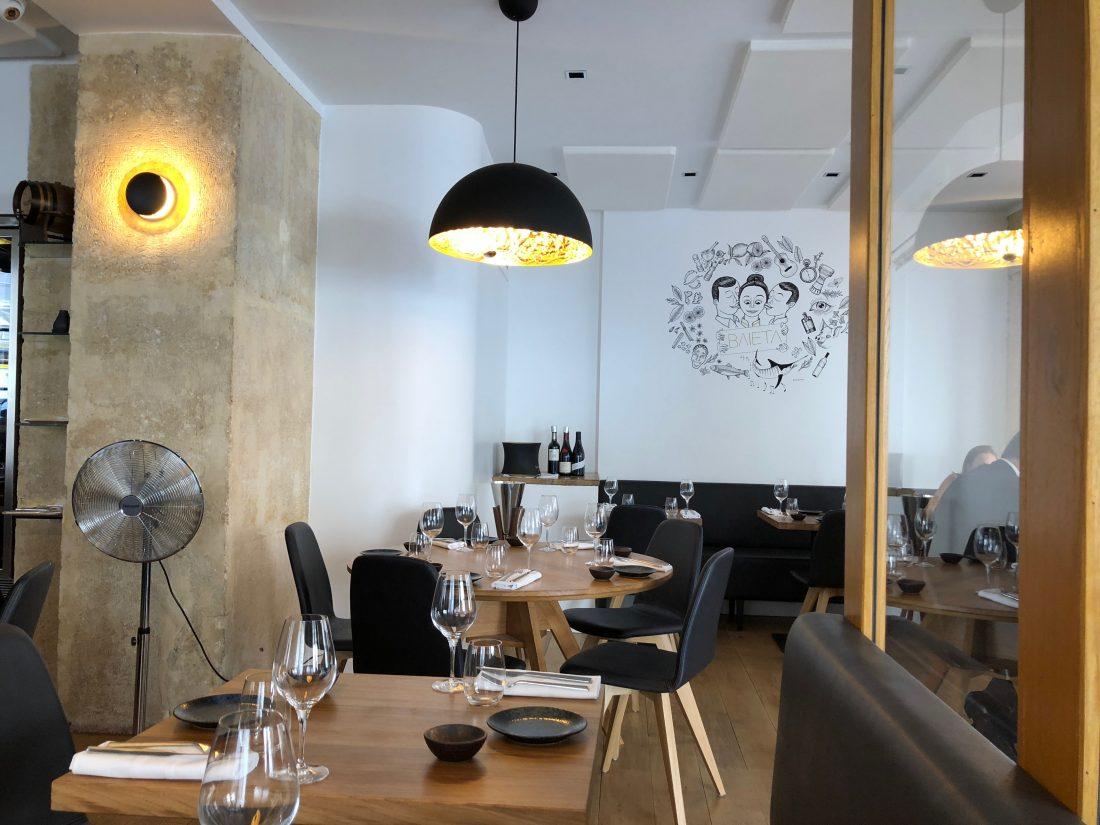 Le décor n'a pas beaucoup changé mais l'esprit de la cuisine si. L'Itinéraires de Sylvain Sendra est devenu Baieta...